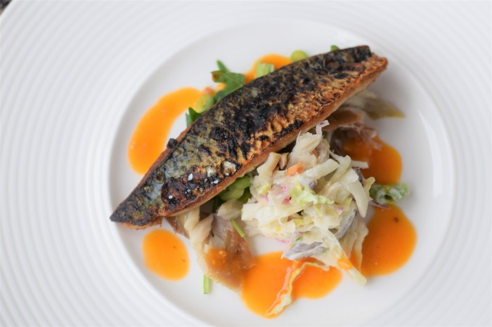 The deliciously crispy mackerel.