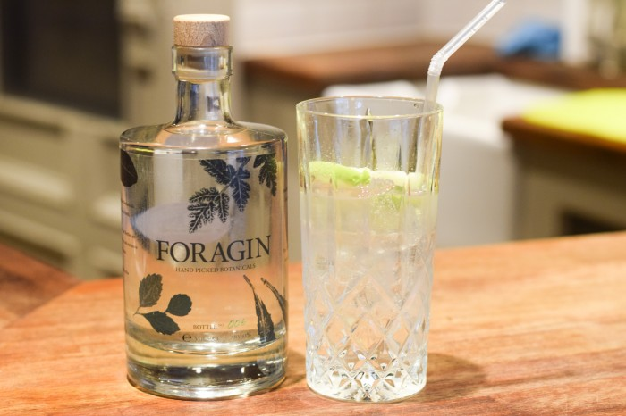 Foragin - Gin bottle and glass