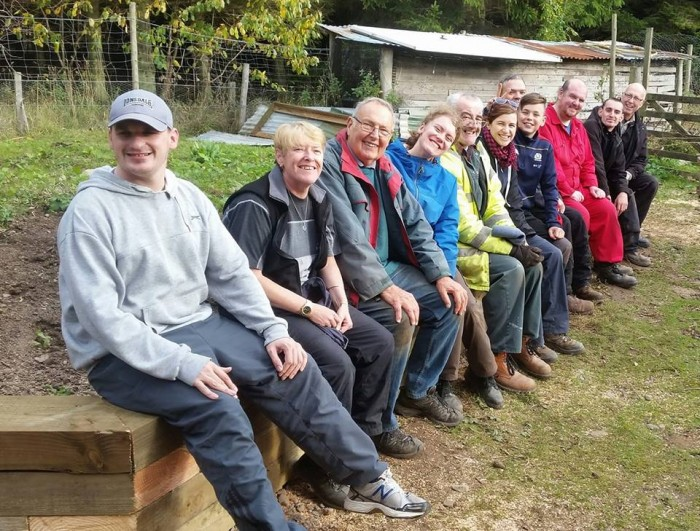 Southton Smallholding- Sitting on the wall