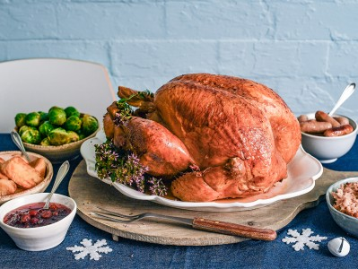 Thyme Roasted Turkey with Cranberry Sauce