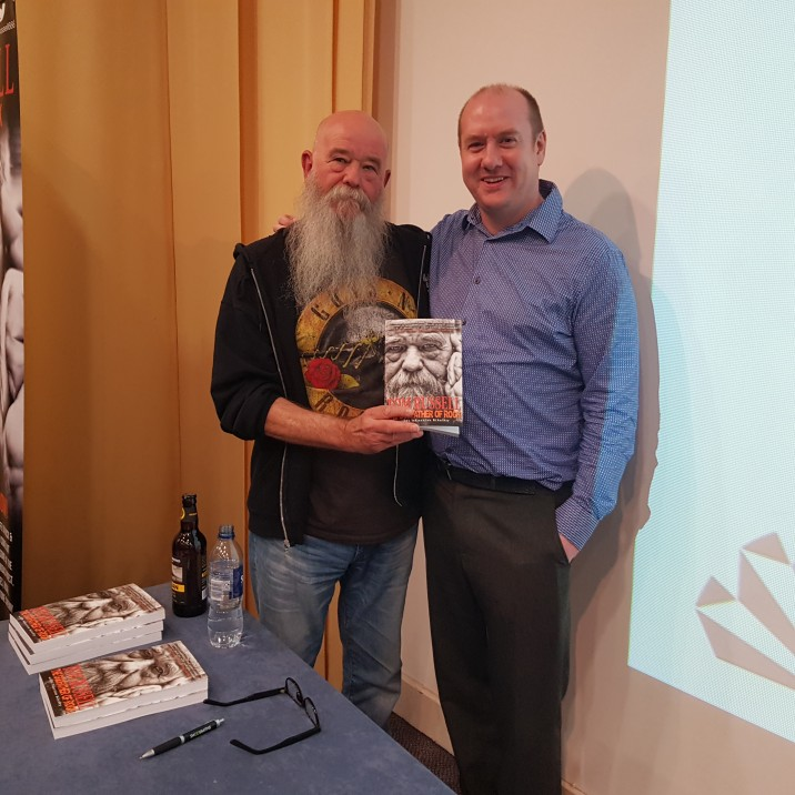 Rock DJ Tom Russell came to A.K. Bell Library with fascinating  tales of Rock n' Roll excess