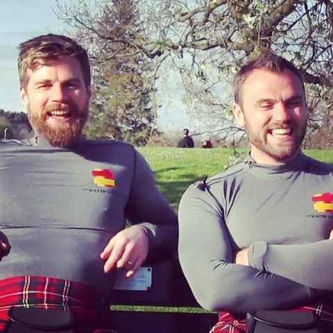 Kilted Coaches- Tops on for once