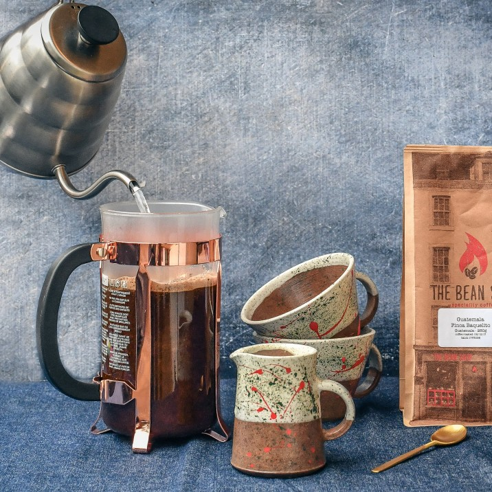 Win: A selection of fresh coffee beans, roasted in the Bean Shop premises in George Street and ground to give the prefect pot of coffee for the prize's accompanying cafetiere! Worth £50