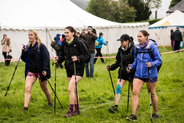 Cateran Yomp - Ladies with poles