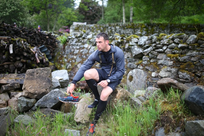 Cateran Yomp - Resting on a stone