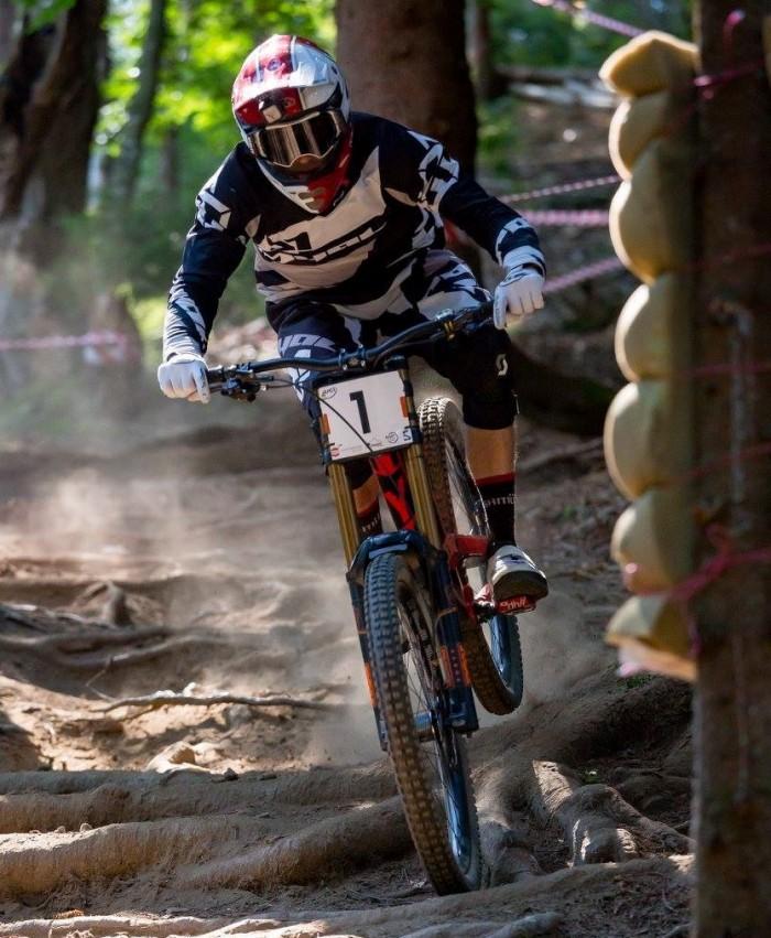 Sam Herd - Downhill mountain biking dust