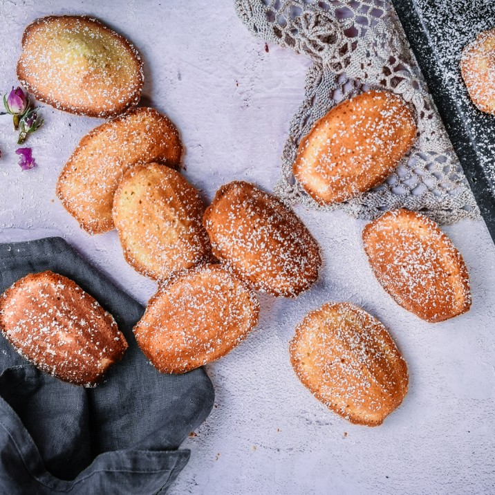 Rum Infused Madeleines Sweet Cake Recipe