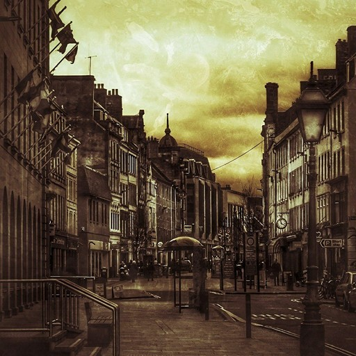 High Street in Monochrome