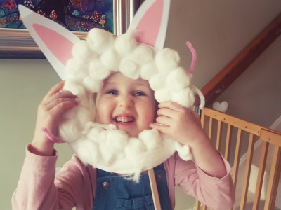 Small City Crafts: Bunny Selfie Mask