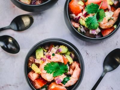Healthy Prawn and Avocado Salad