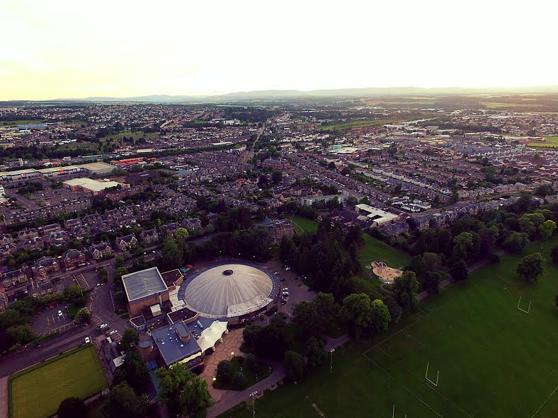 Bells Sports Centre from above with this awesome drone shot!