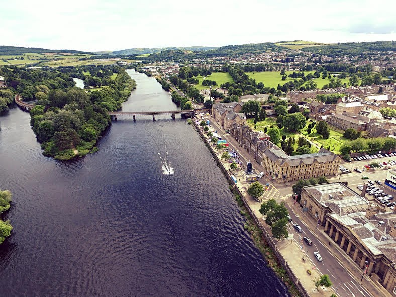 The Tay and Moncrieff Island