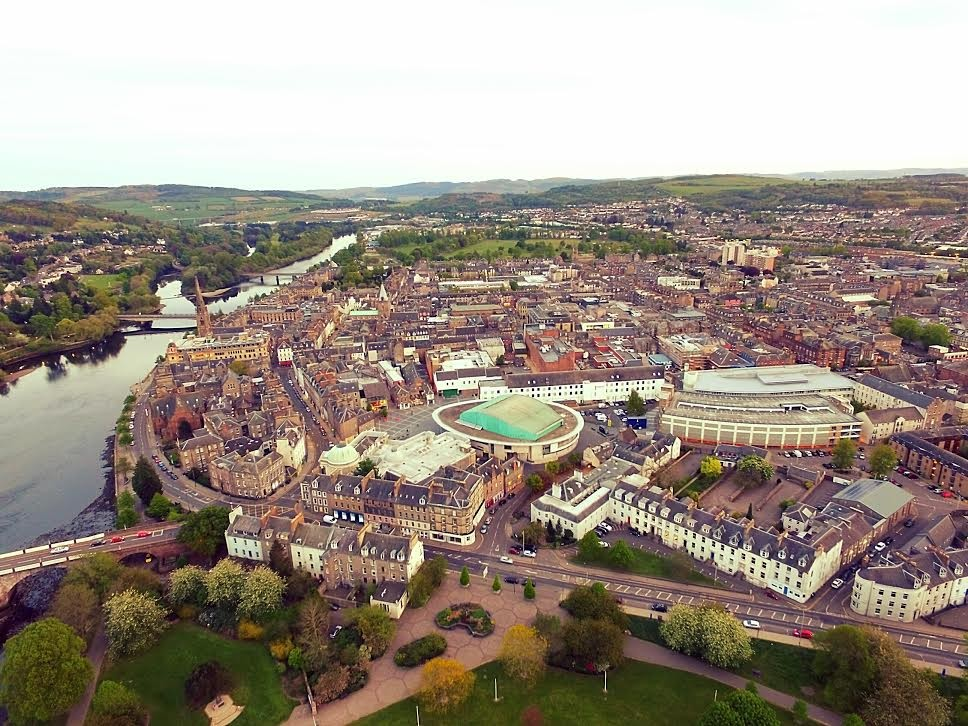 Perth and The River Tay from above