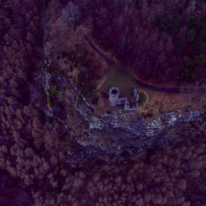 Kinnoull Tower from above