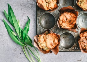 With wild garlic in season right now this delicious recipe for wild garlic muffins is a great recipe to make as a change from the usual veggie pesto or pasta garlic dish!