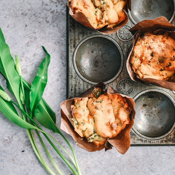 Wild Garlic Savoury Muffins Homemade Recipe