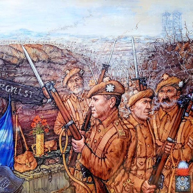WWI Mural by Ian Cuthbert Imrie
