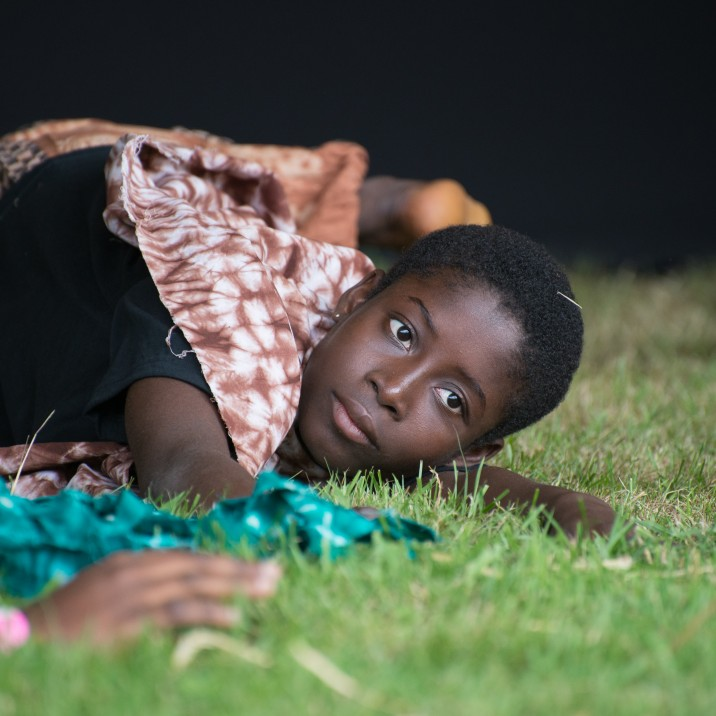 A Ghanian dancer taking a well deserved rest!