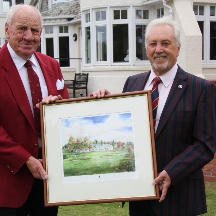 Tom Watson is celebrating 70 years as an active member of Blairgowrie Golf Club in Perthshire.