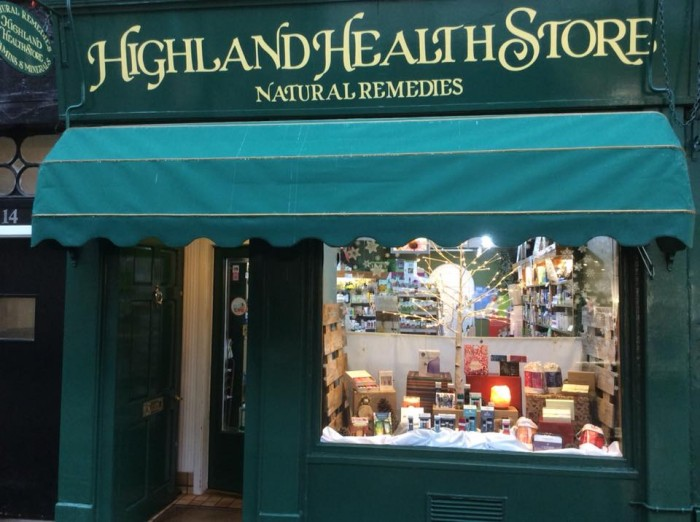 Highland Health Store - shop front
