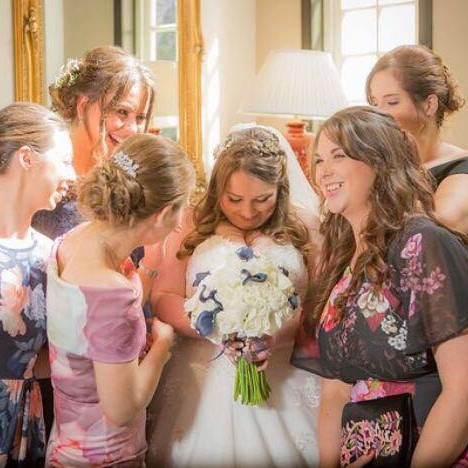 Small City Megan shared this snap of special moments between a bride and her best friends