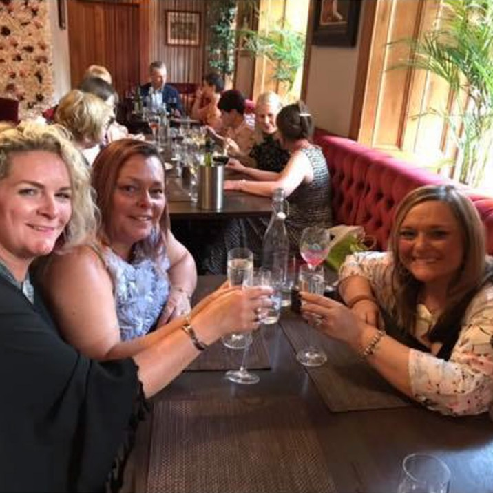 Friendships built to last forever! Sonia Hamilton enjoys some fizz with her besties Paula Leitch and Karen Johnstone! 40 years of Freindship