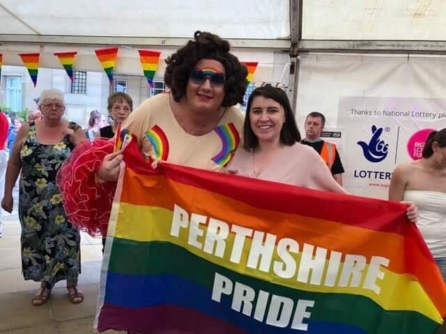 Nancy Clench at Perthshire Pride