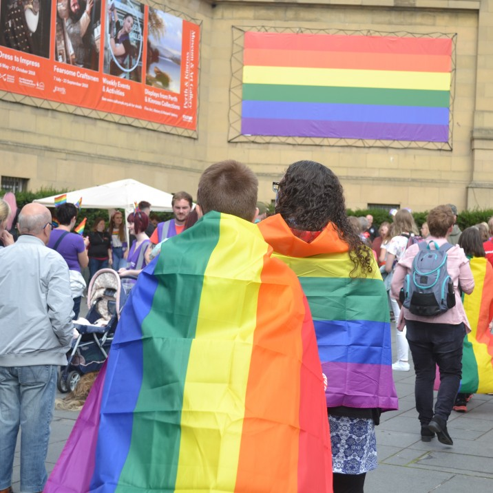 Perth Scotland celebrated it's very first Pride Festival in Perth City Centre.