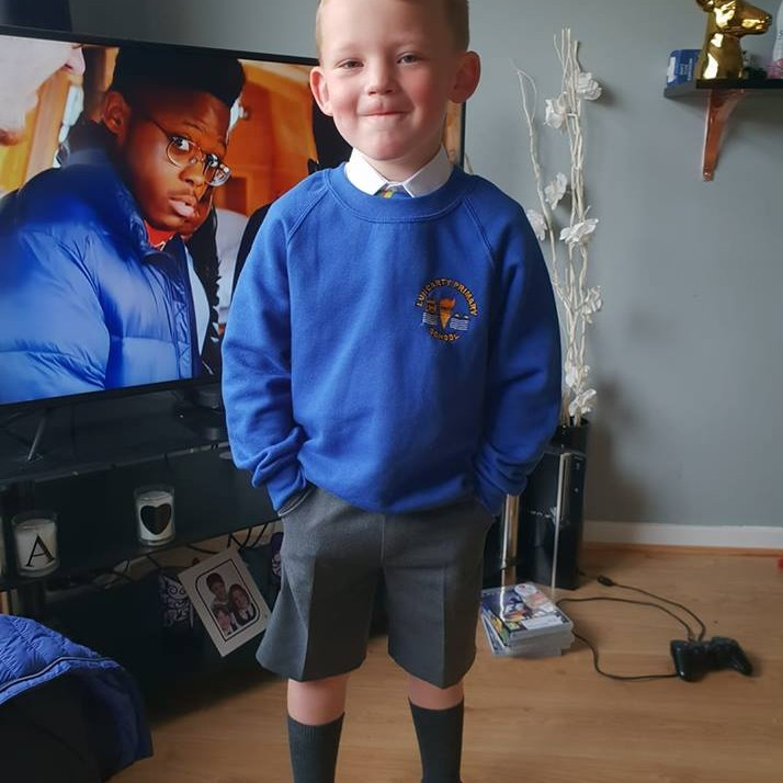 Daniel Starting primary 1 at Luncarty Primary School, Perth