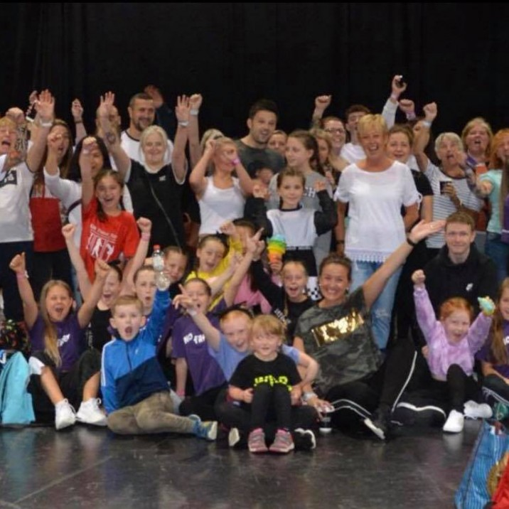 A group shot of all the talented young boys and girls from JGN Dance Studio that took part in the 2018 UDO World Championships.