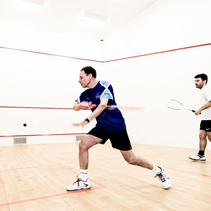 The squash courts at Bells Sports Centre are always very popular.