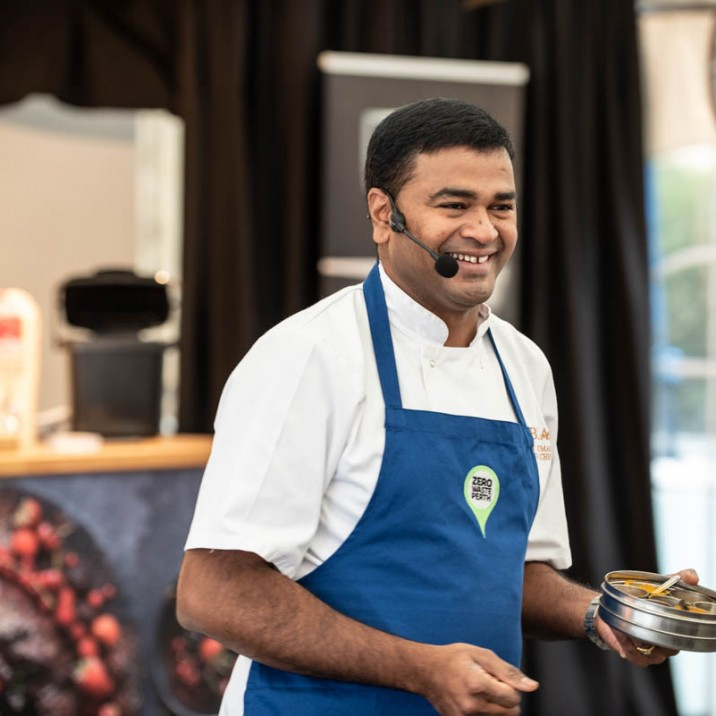 Praveen Kumar wowing the audience with his culinary talents at Perth Food Festival.