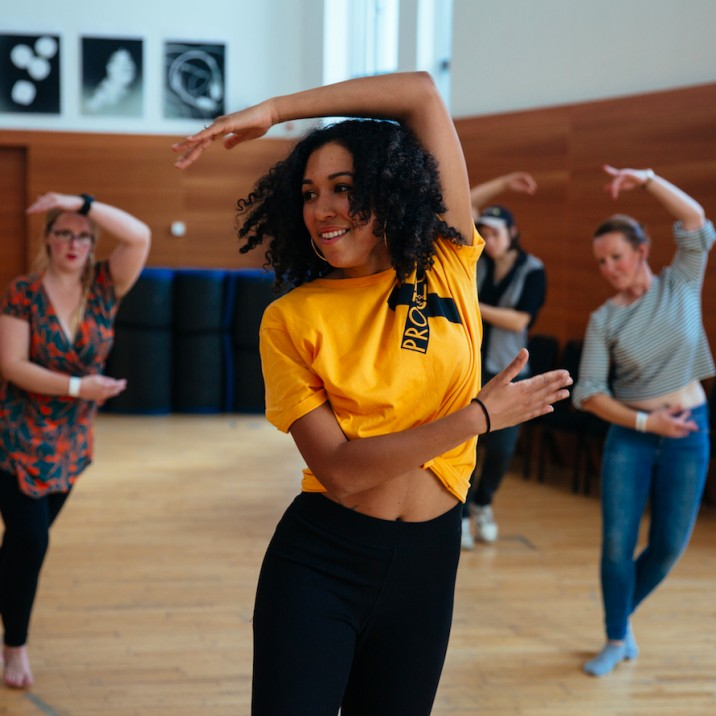Project X led a dynamic and energetic dance workshop in the Norie-Miller Studio at Horsecross!