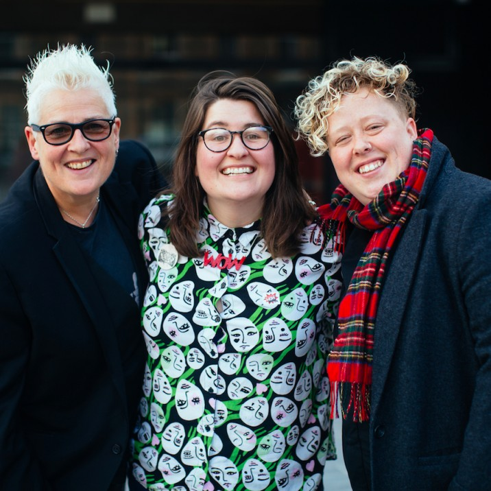 Horse McDonald, Amy Watt and Carrie Lyell from the incredible 'Badass Women from History: Pride Edition' panel! They, alongside panellist Mridul Wadhwa led discussions around LGBTQIA+ women from history.
