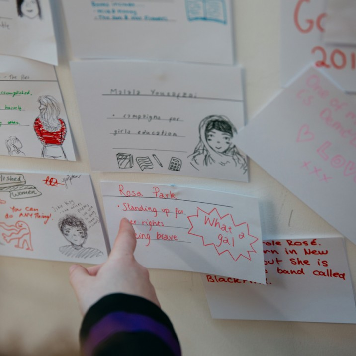 Students at Schools Day on Friday were invited to write down some of their role models at the Glasgow Women's Library Workshop. Here is just a small selection!