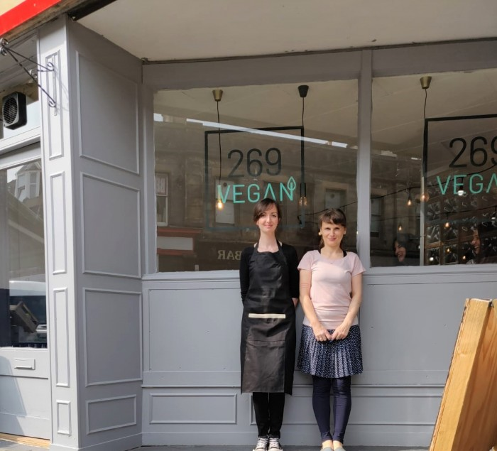 The two owners of 269 Vegan, the dedicated vegan cafe in Perth city centre.