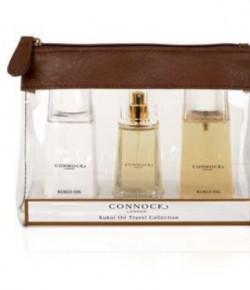 Connock London Kukui Oil Gift set which includes a Kukui Eau de Parfum, Kukui Oil Hand & Body Wash and Kukui Oil Hand & Body lotion.
