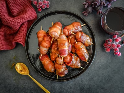 Sticky Christmas Pigs in Blankets