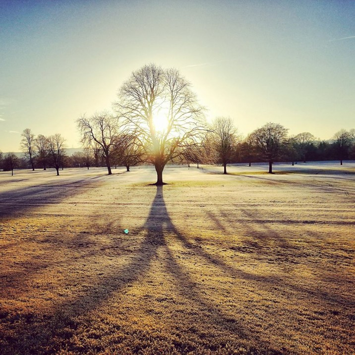 A frosty morning over the North Inch in Perth photographed by Marysia Macfarlane