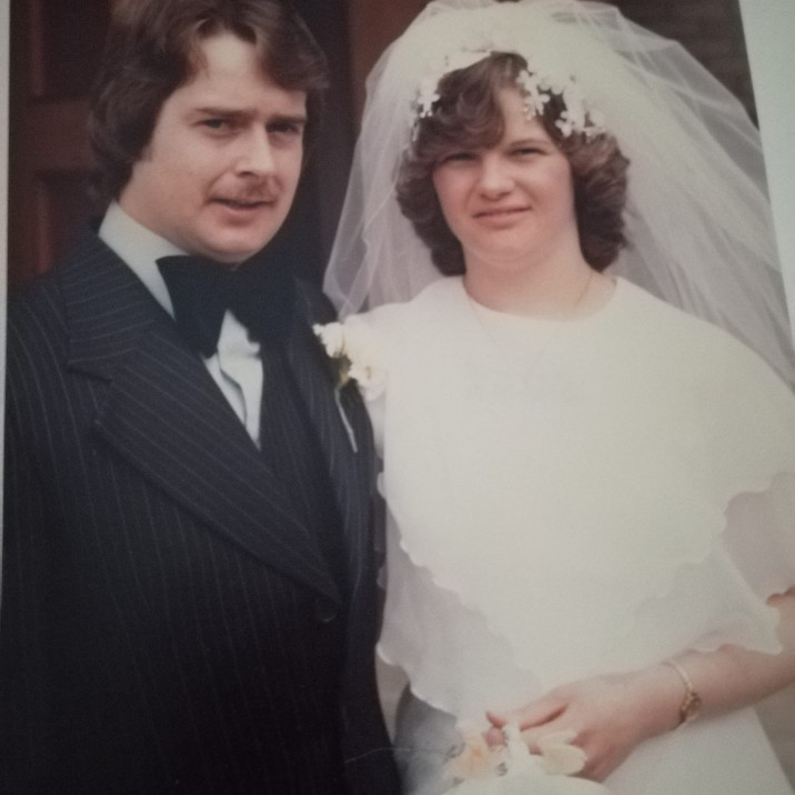 Meet the first couple to ever be married in Moncrieff Church! Pictured are Dave and Elaine Murray in June 1978.