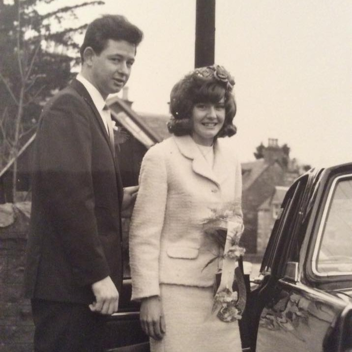 Phyllis and John Buchan, married in East Church Pitlochry on the 11th of January, 1969.