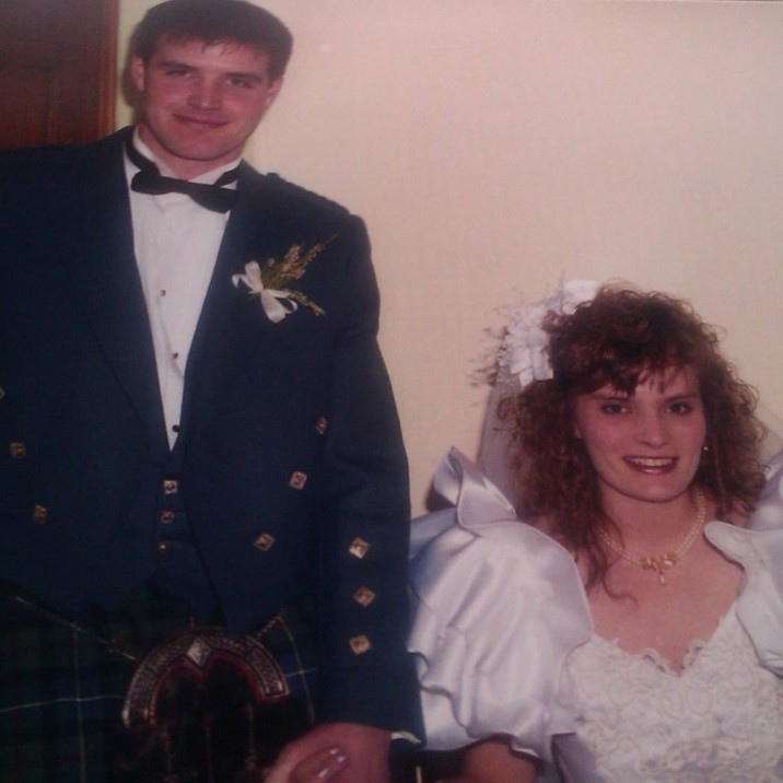 Steve and Fiona Scott, wed on the 5th of Sept, 1993 at St. Leonard's.