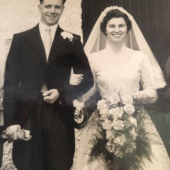 Tracy sent us in the beautiful picture of her parents, Frank and Dot Goodison (nee McDonald), on their wedding day. She tells us: