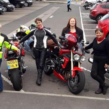 "Fiona: ""Some of the lovely ladies from Perthshire Ladies Motorcycle club. Some of my best friends."""
