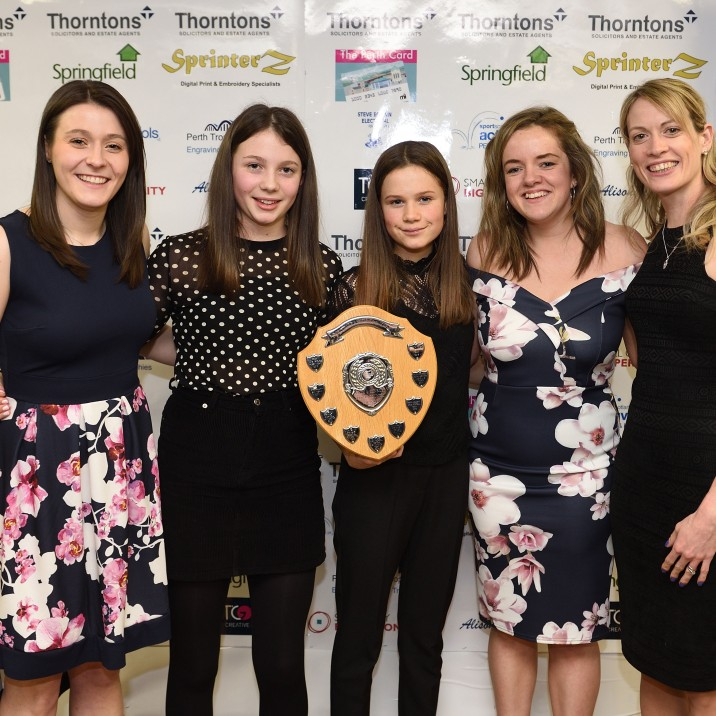 2018 School Team of the Year, sponsored by Active Schools (Trophy presented by Kirsty Eadie)