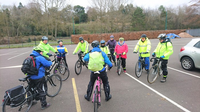One of the Adult Cycling group in Perth.