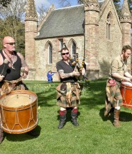 Scotland's leading tribal band play Scone Palace.