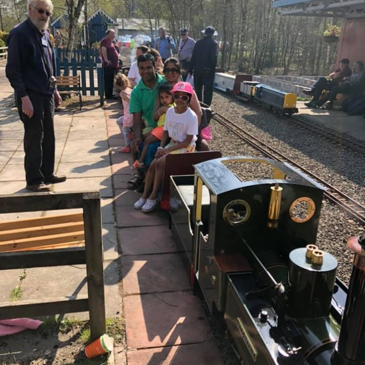 Praveen Kumar and his family enjoyed a day out at Wester Pickston Railway this Easter Sunday