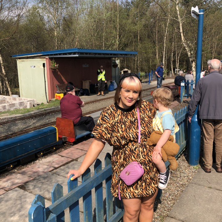 Small City Sam and her toddler River enjoyed a day in the Sunshine at Wester Pickston Railway in Perthshire.