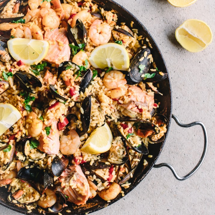 Delicious Seafood Paella.